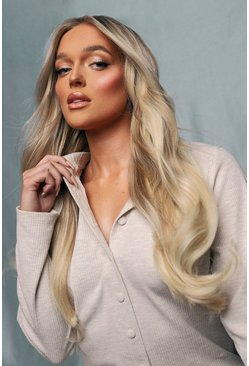 Blonde beige LullaBellz 5 Pc Blow Dry Extension Champagne