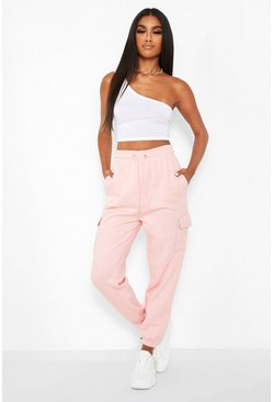 Pale pink pink Basic Cargo Joggers