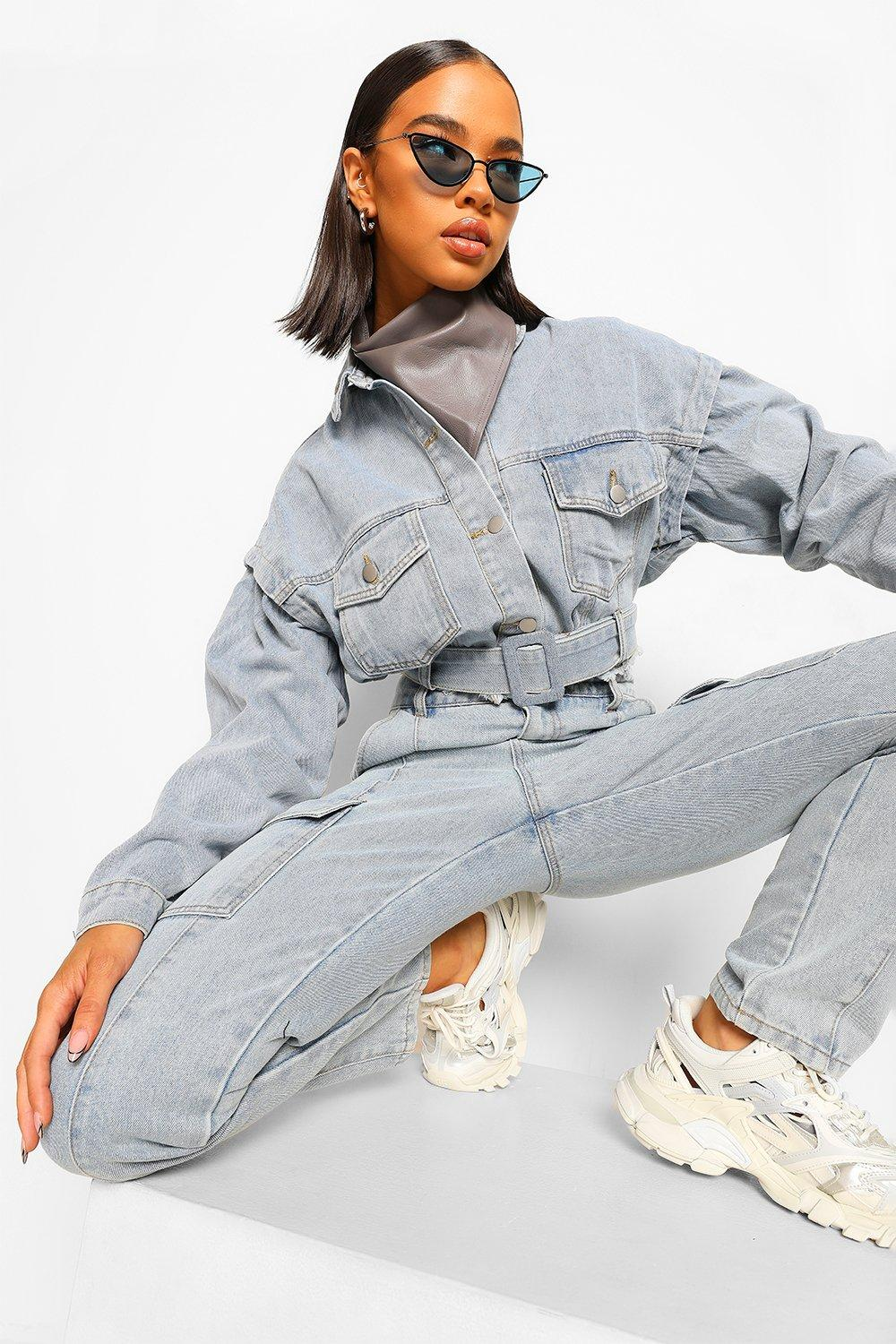 Don't Miss Out Denim Folded Seam Detail Jacket