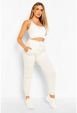 Ivory white Knitted Joggers