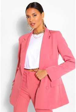 Rose pink Tailored Oversized Boyfriend Blazer