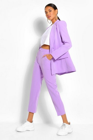 Lilac purple Tailored Tapered Trouser