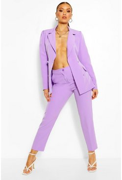 Lilac Tailored Tapered Trouser