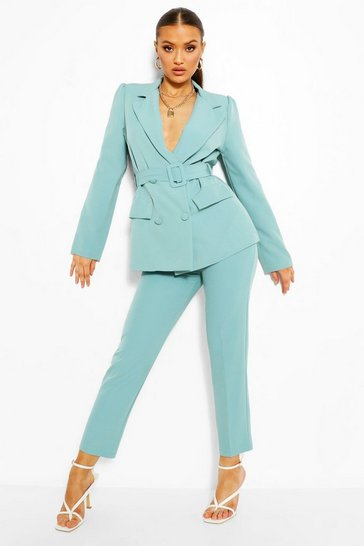 Turquoise blue Tailored Tapered Trouser