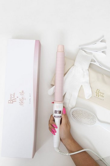 Pink Molly Mae x Beauty Works Curl Kit