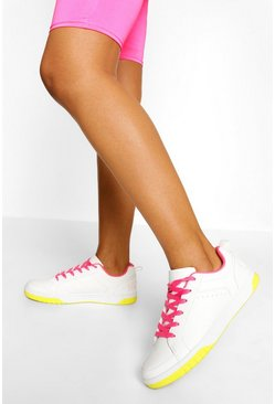 Pink Woman Slogan Flat Trainers
