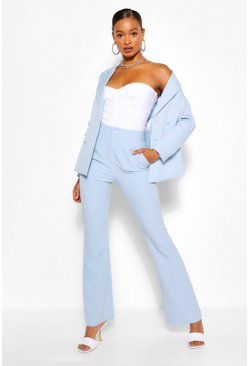 Pastel blue blue Tailored Kick Flare Trouser