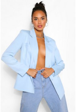 Asymmetric Blazer & Pants Suit Set