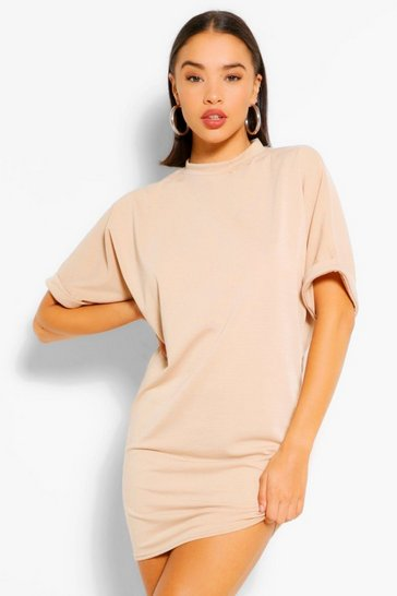 Stone beige Soft Loopback Sweat Dress