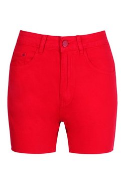 Red Pocket Denim Short