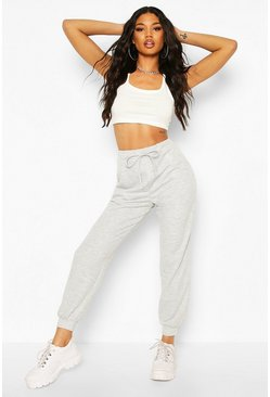 Grey marl grey Basic Loopback Sweat Jogger