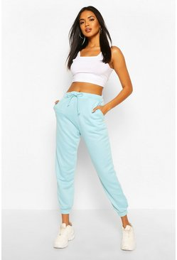 Baby blue Basic Regular Fit Joggers