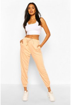 Peach Basic Regular Fit Joggers