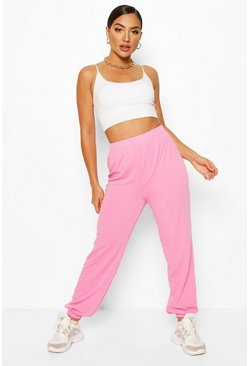 Powder pink pink Elasticated Waist Relaxed Loopback Joggerss