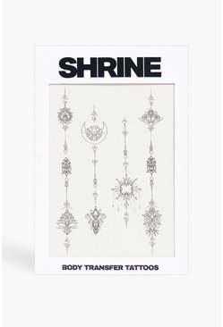 Black Shrine Body Transfer Tattoos