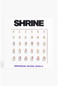 Shrine Individual Silver Face Jewels