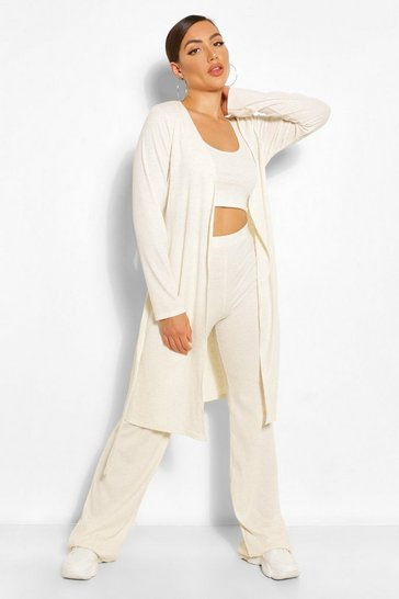Camel beige Soft Rib Knit 3PC Co-ord