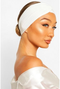 White Spa Facial Headband