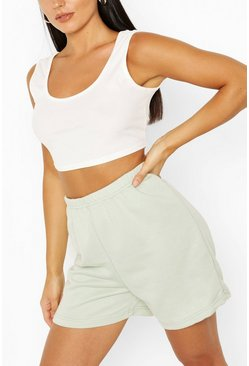 Sage green Sweatstof Loopback Shorts
