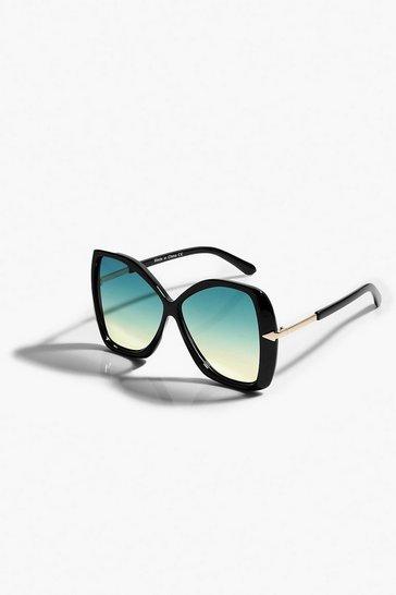 Black Oversized Tinted Lens Sunglasses