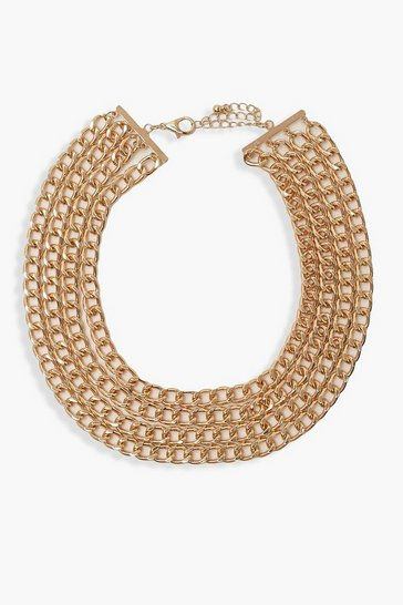 Gold Chunky Chain Layered Choker