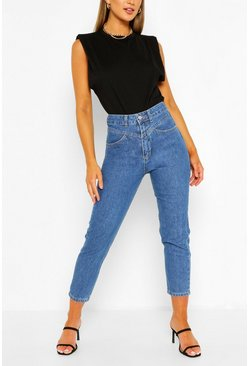 Mid blue blue High Rise Skinny Jeans