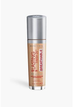 Medium brown Rimmel Breathable Foundation Nat. Beige 400