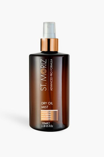 Tan brown St Moriz Ad Pro Dry Oil Self Tanning Mist