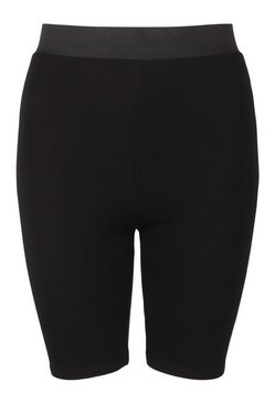 Black Elasticated High Waist Cycling Short