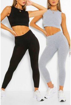Multi 2 Pack Sleeveless Crop Top & Legging Co-ord