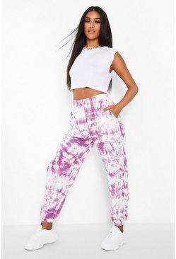 Wine red Tie Dye Jogger