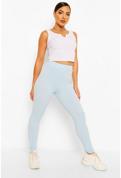 Baby blue blue Jumbo Rib High Waist Leggings