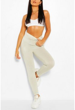 Ice blue Basic High Waist Ankle Grazer Legging