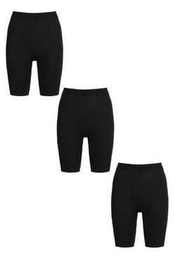 Black Basic 3 Pack Cycling Short