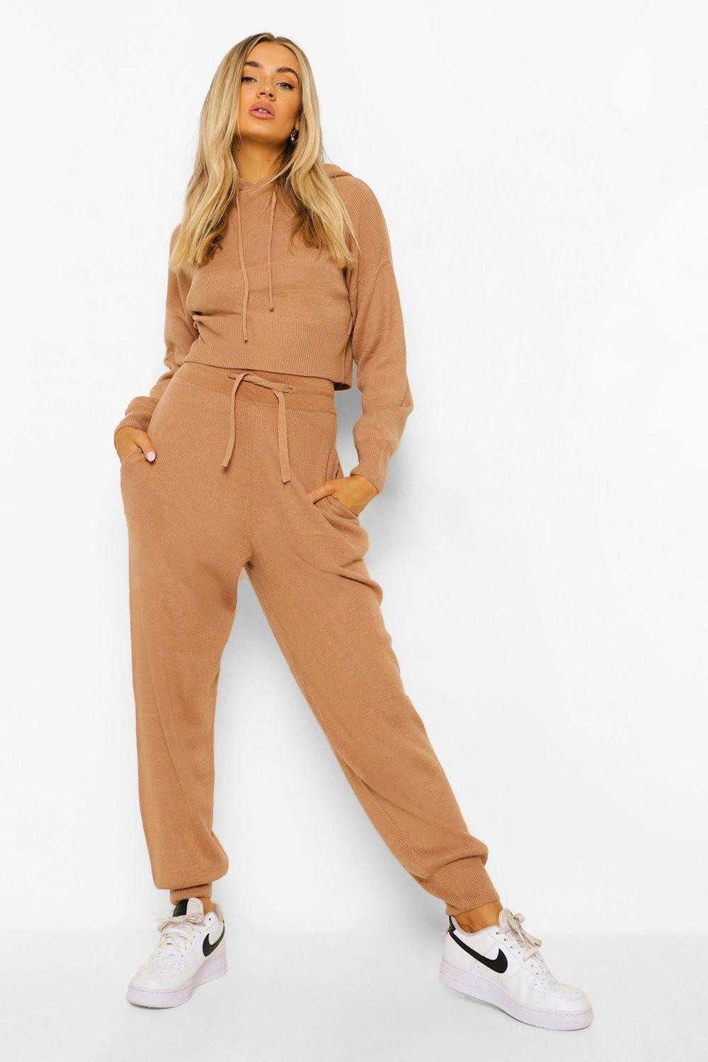 Knitwear Knitted Crop Hoody & Joggers Co-ord