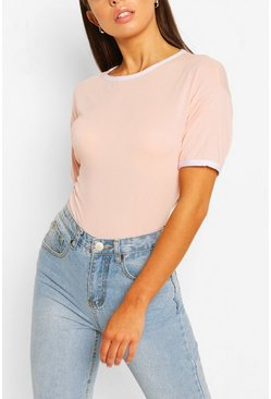 Blush pink Ringer T-Shirt