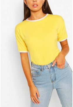 Lemon yellow Ringer T-Shirt