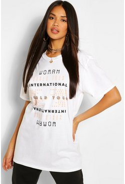 White Woman International Print T-Shirt