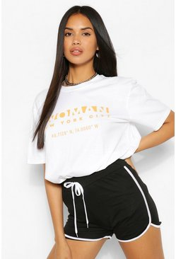 White Woman New York Print T-Shirt
