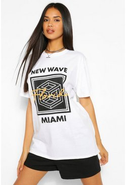 White Florida Geo Print T-Shirt