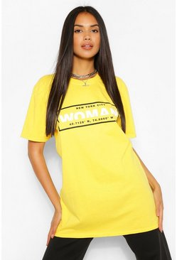 Lemon yellow Woman Box Print T-Shirt