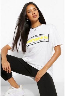 White Woman Box Print T-Shirt