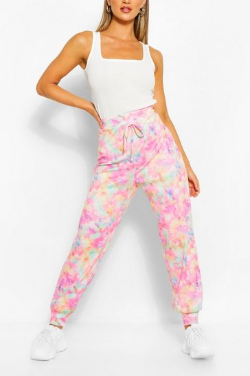 Pink Pastel Tie Dye Relaxed Joggers