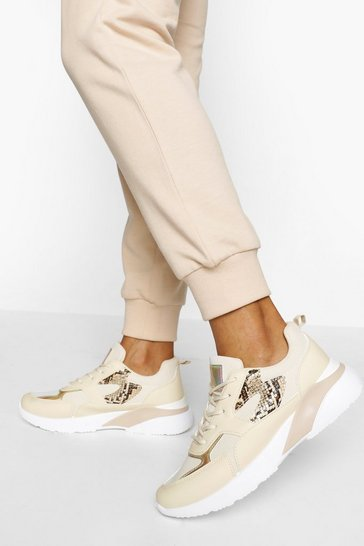 Stone beige Chunky Sole Trainers