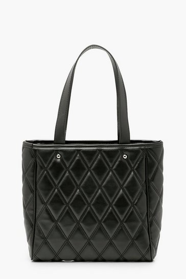 Black Diamond Quilt Tote Bag