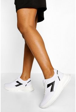 White Contrast Panel Chunky Trainers