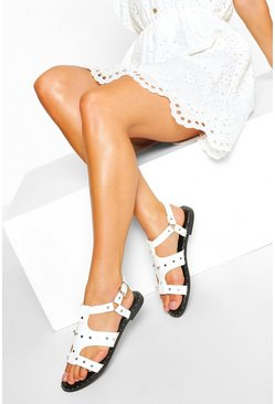 White Studded Gladiator Sandal