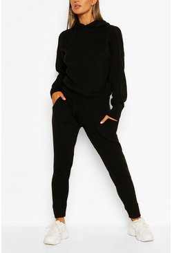 Black Knitted Trouser & Hoody Set