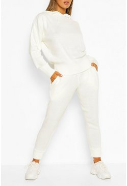 Ivory Knitted Trouser & Hoody Set