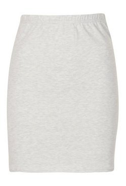 Grey marl Core Basic Jersey Mini Skirt